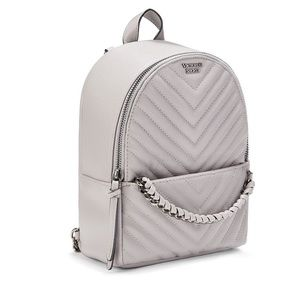 Pebbled V-Quilt Small City Backpack